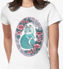 Mermaid kitty  Women's Fitted T-Shirt