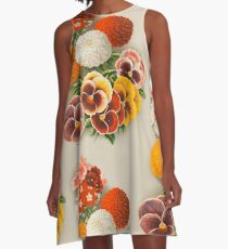 Pansies & Marigolds A-Line Dress