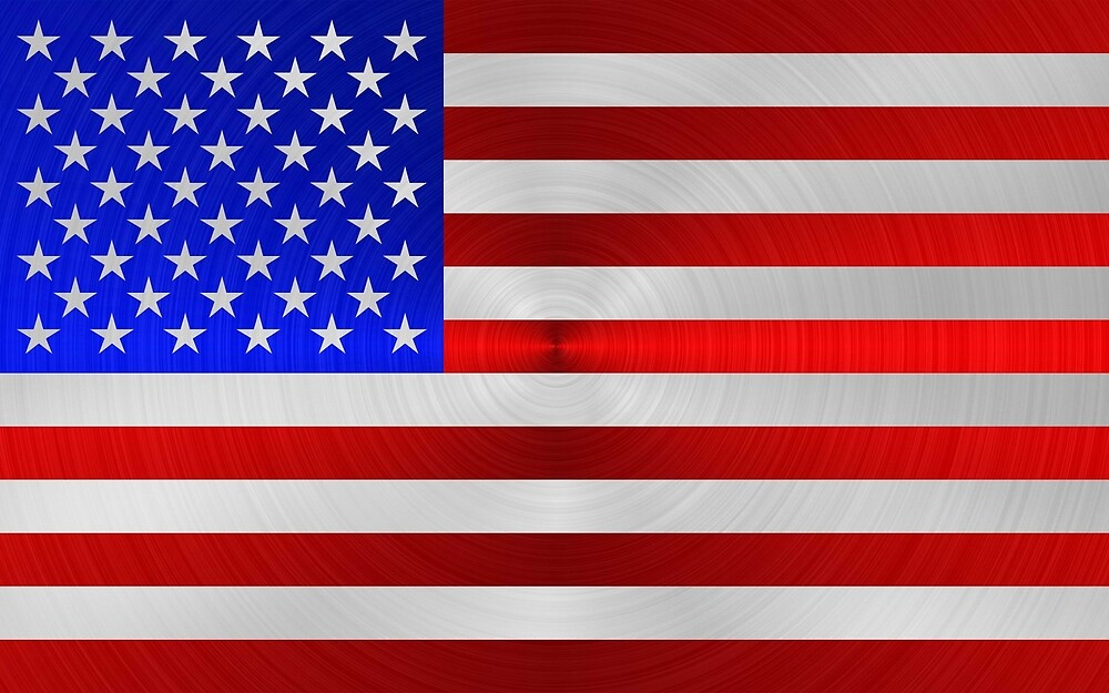 USA FLAG METAL 2 by johnhunternance