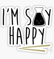 Ich bin Soy Happy - Sojasauce Sticker