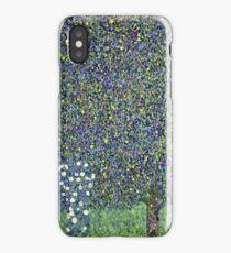 Gustav Klimt - Roses Under The Trees  iPhone Case/Skin