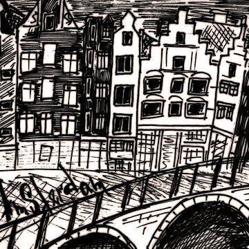 b&w Amsterdam by anastasiadueva