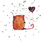 Balloon with Cat by caratoons
