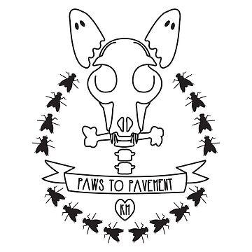 Paws Halloween Dog Bones Skull & Ghost Ears by Ejmckinney19