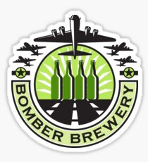 B-17 Heavy Bomber Beer Bottle Brewery Retro Sticker