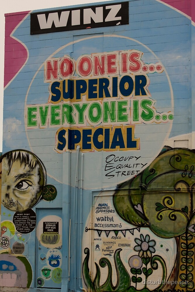 No One is Superior, New Brighton, NZ by disturbthepeace