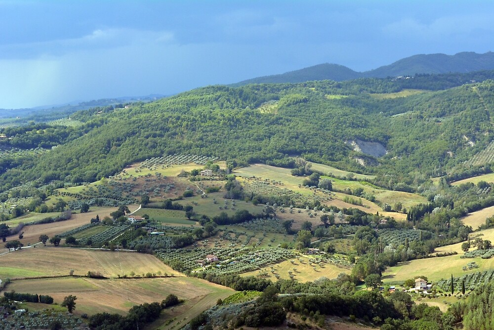 Natural landscape with the hills of Assisi by oanaunciuleanu