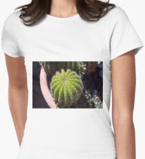 Small cactus in the pot Women's Fitted T-Shirt