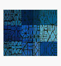 blue fence Photographic Print