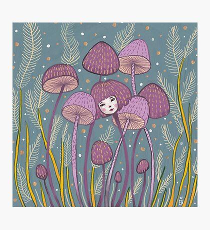 Uncommon Variety - Purple Mushroom Photographic Print