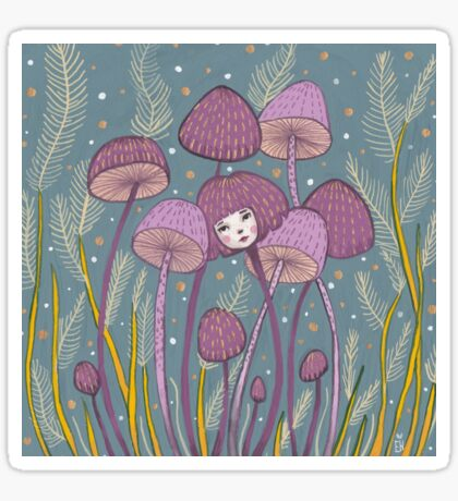 Uncommon Variety - Purple Mushroom Sticker