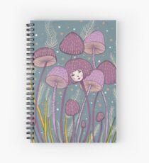 Uncommon Variety - Purple Mushroom Spiral Notebook