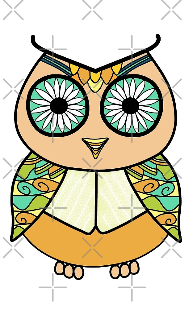 Flower-eyed owl by SnailAndCo