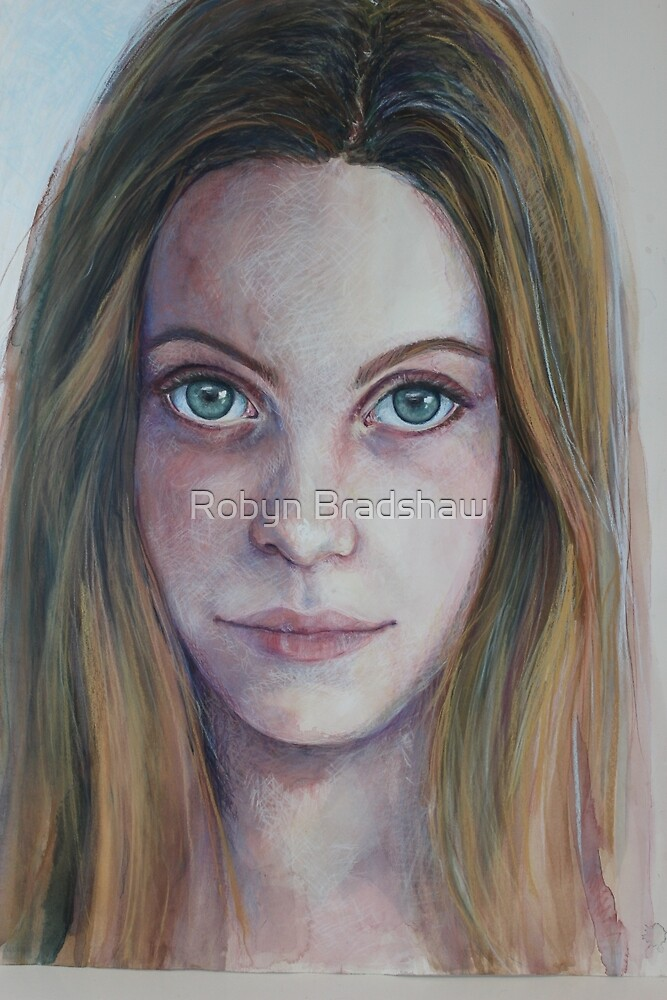 Bre overlaid with pastel by Robyn Bradshaw