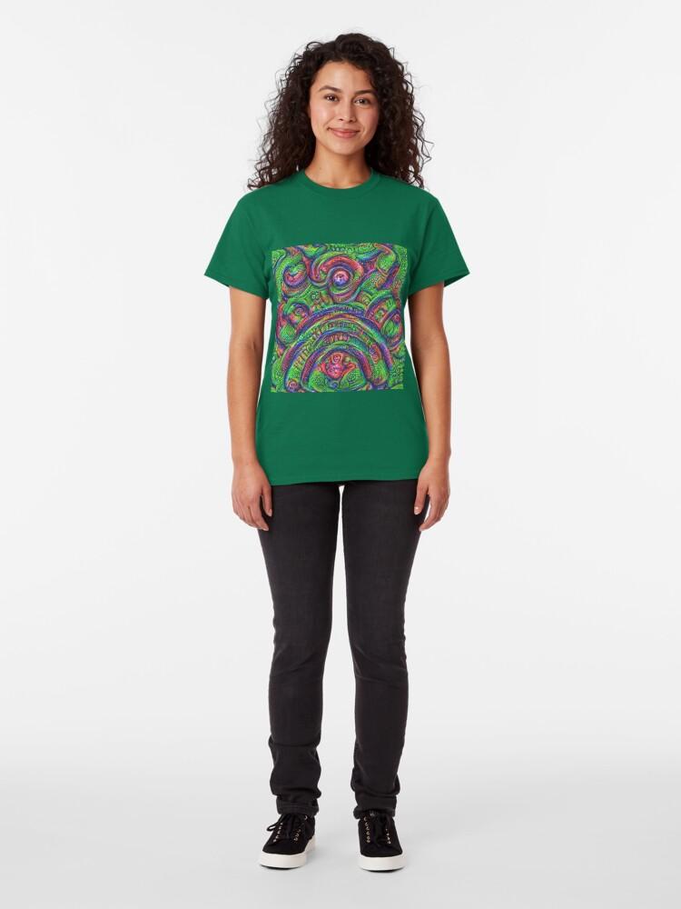 Alternate view of Green #DeepDream Classic T-Shirt