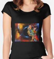 Open Mind, featured in Art Universe, Vavoom Women's Fitted Scoop T-Shirt
