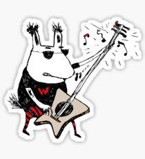 Wild Guitar Wolf  Sticker