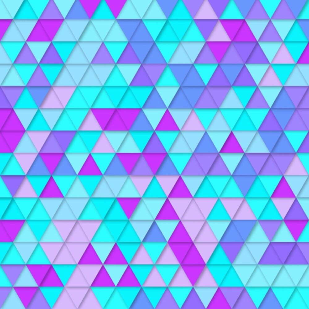 Teal Blue Triangle Tessellation  by KirstenStar