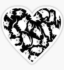 Crazy Cat Heart  Sticker