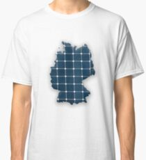 Map of Germany with photovoltaic solar panels. Classic T-Shirt