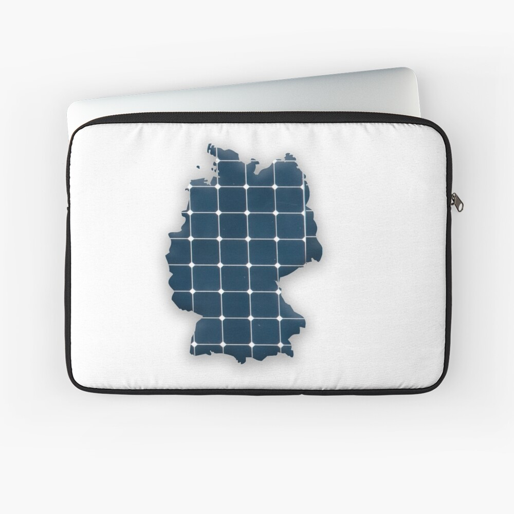 Map of Germany with photovoltaic solar panels. Laptop Sleeve Front