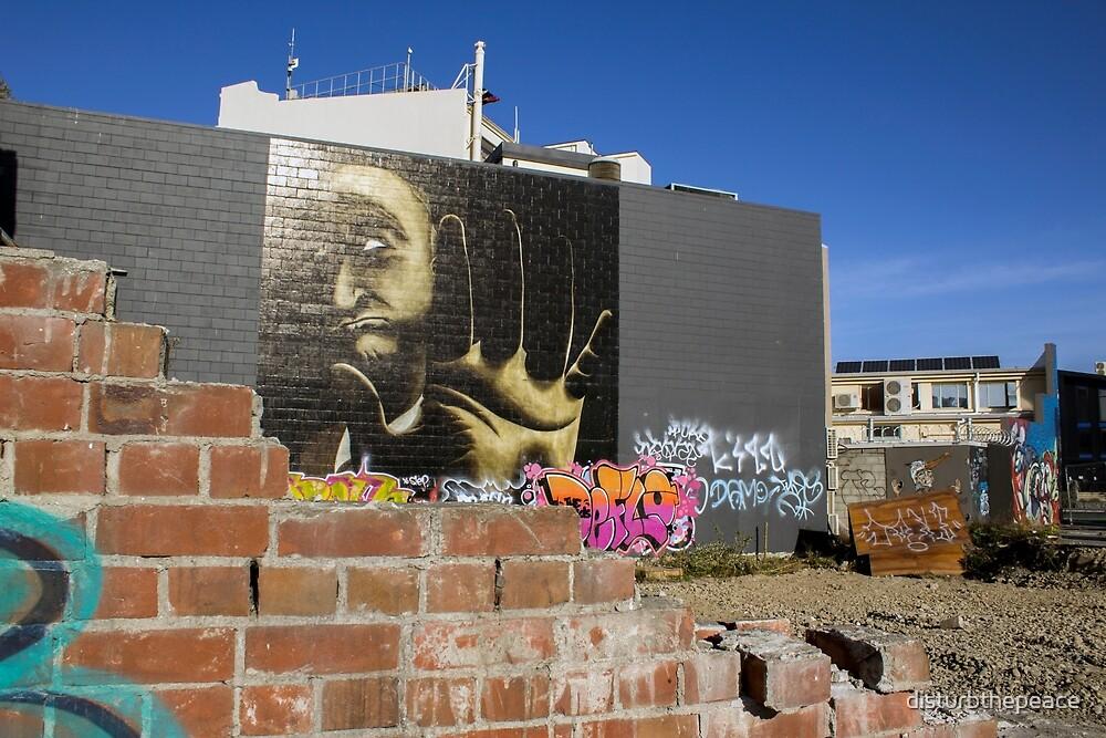 Talk to the Hand, Christchurch City, NZ by disturbthepeace
