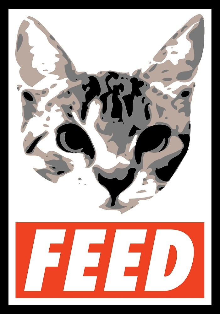 FEED the cat poster by klusky