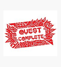 Monster Hunter Quest Complete angled Photographic Print