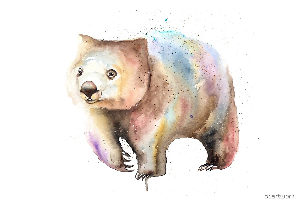 Wobbly Wombat by seartwork