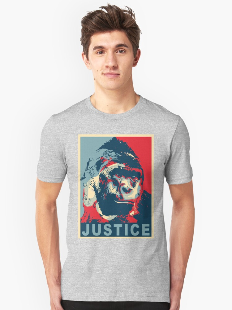justice for harambe Unisex T-Shirt Front