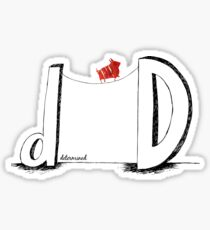 D is for Determined  Sticker