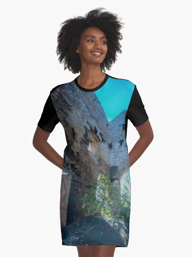Santo Tomas engine house (1849), Pozo Ancho lead mine, near Linares, Spain Graphic T-Shirt Dress Front