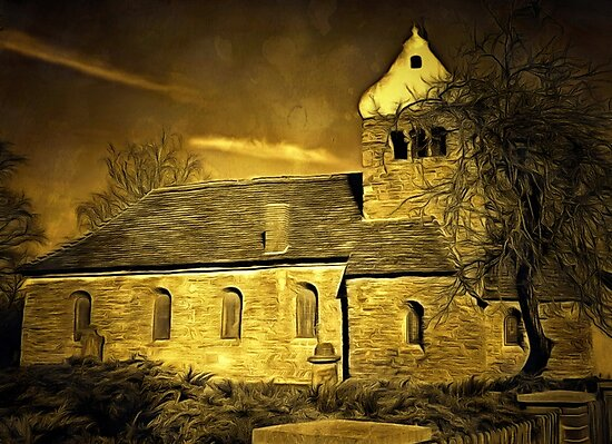 Historic Romanesque style Church by Dennis Melling