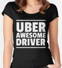 Uber Awesome Driver Women's Fitted Scoop T-Shirt