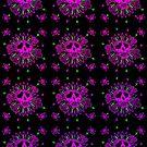 Girly Skull Pattern by BluAlien