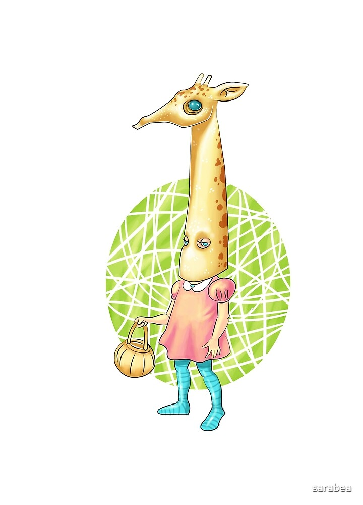 giraffe girl by sarabea