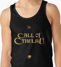 CALL OF CTHULHU - Logo (gold with elder sign & chaosium) Tank Top