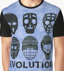 5844ae4bc Hockey Goalie Mask Evolution. Graphic T-Shirt