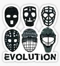 Hockey Goalie Mask Evolution. Sticker
