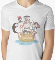 studio ghibli Men's V-Neck T-Shirt