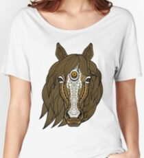 Colouring Book Horse 05 Women's Relaxed Fit T-Shirt