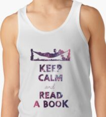 KEEP CALM AND READ A BOOK (Space) Tank Top