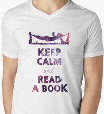 KEEP CALM AND READ A BOOK (Space) T-Shirt