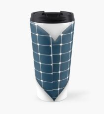 Love heart with photovoltaic solar panels. Travel Mug
