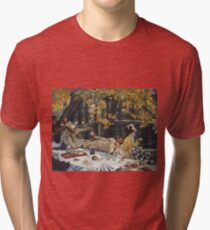 James Tissot - Holyday (1876)  Tri-blend T-Shirt