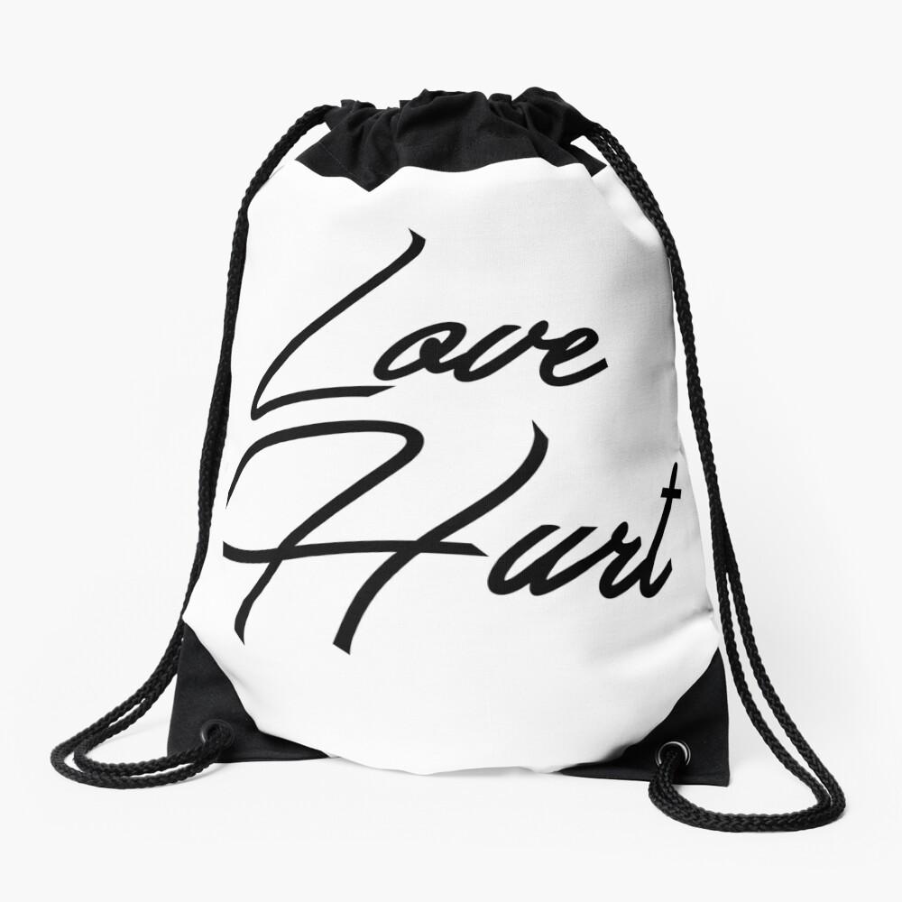 Love Hurt Drawstring Bag