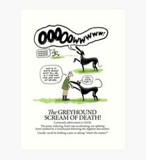 Greyhound Glossary: GSOD Art Print