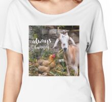 Always Hungry - hungry lil' goat  Women's Relaxed Fit T-Shirt