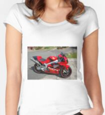SUPERBIKES-HONDA SP 1. Women's Fitted Scoop T-Shirt