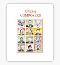 12 Opera Composers Sticker